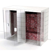 Harvia Tiled Modular Steam Rooms