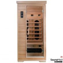 SaunaMed 1 Person Classic Hemlock FAR Infrared Sauna EMR Neutral™