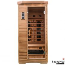 SaunaMed 1 Person Luxury Cedar FAR Infrared Sauna EMR Neutral™