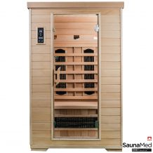 SaunaMed 2 Person Classic Hemlock FAR Infrared Sauna EMR Neutral™