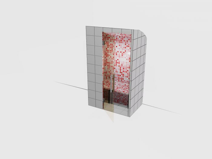 Harvia Modular Tiled Steam Room 800x1200