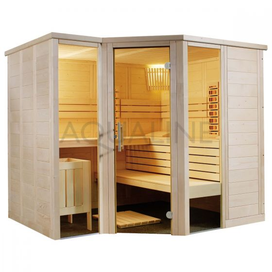 Sentiotec Arktis Sauna with Dual Infrared and Traditional Heaters