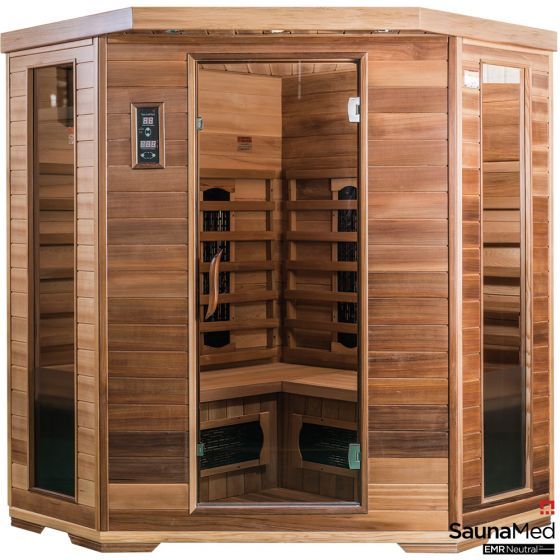 SaunaMed 4-6 Person Luxury Cedar FAR Infrared Sauna EMR Neutral™