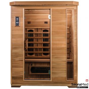 SaunaMed 3 Person Luxury Cedar FAR Infrared Sauna EMR Neutral™