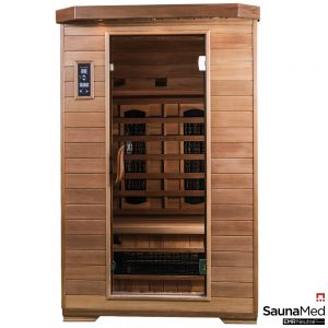 SaunaMed 2 Person Luxury Cedar FAR Infrared Sauna EMR Neutral™