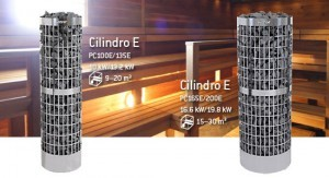 New Heavy-duty Harvia Cilindro heaters from Harvia